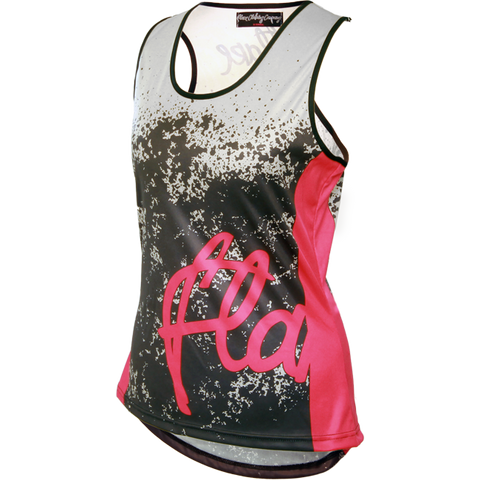 Flare Clothing Co - Womens Cycling MTB Vest - Roost Grey Pink Tank Jersey