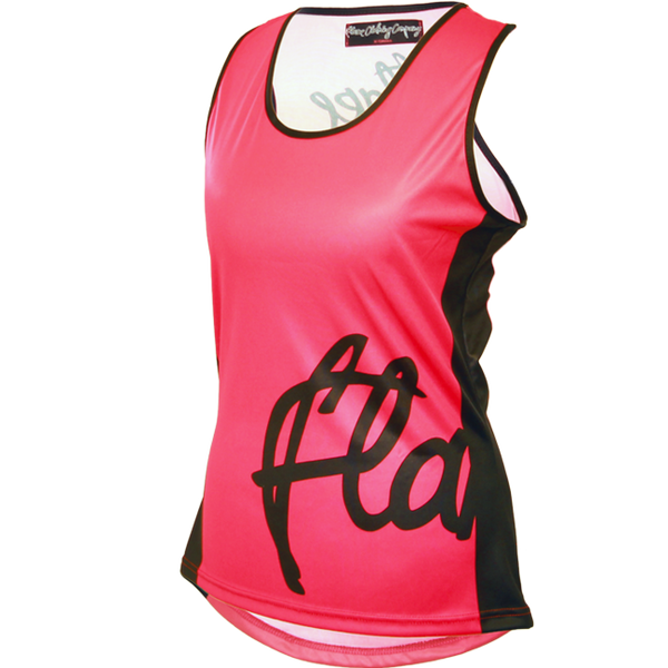 Flare Clothing Co - Womens Cycling MTB Vest - Solid Pink Tank Jersey bf5b105d1