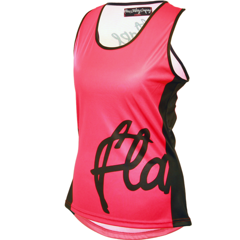 Flare Clothing Co - Womens Cycling MTB Vest - Solid Pink Tank Jersey
