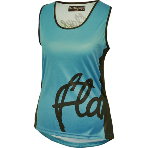 Flare Clothing Co - Womens Cycling MTB Vest - Solid Teal Tank Jersey1