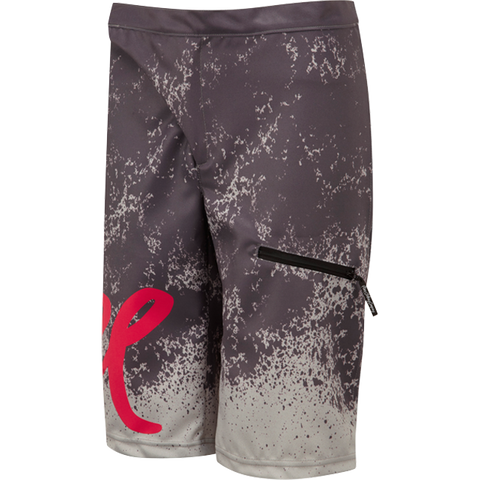 flare clothing co - womens cycling mtb shorts - roost grey pink