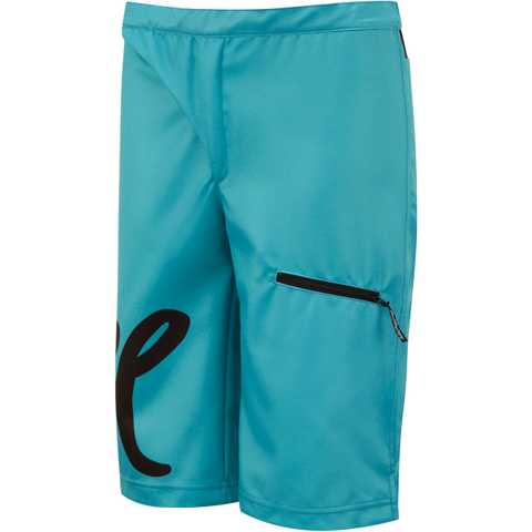 flare clothing co - womens cycling mtb shorts - teal 1