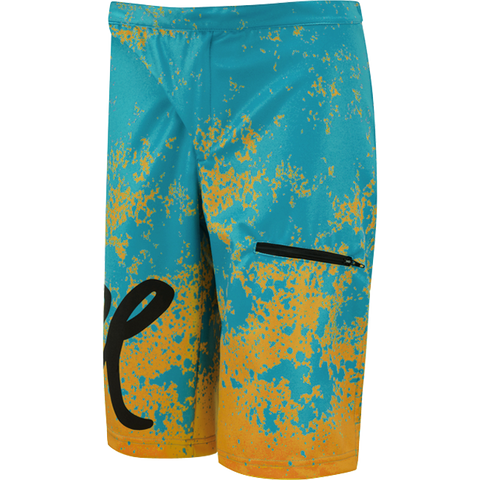 Flare Clothing Co - Womens Cycling MTB Shorts - Roost Yellow/Teal 1