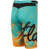 Flare Clothing Co - Womens Cycling MTB Shorts - Roost Yellow/Teal 2