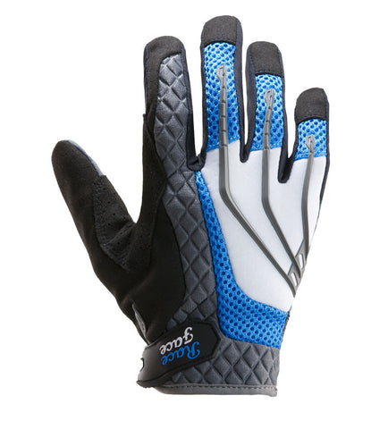 Race Face Flank Glove, Black and Blue, Womens MTB Glove