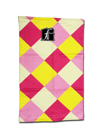f-riders Neck Warmer / Snood pink-yellow