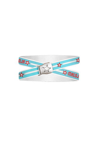 Maloja Canvas belt, White, Blue, Red Stars