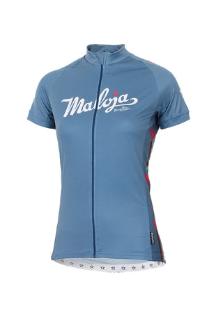 Maloja JamilaM Women's Bike Shirt, Azur, Women's Cycling Jersey