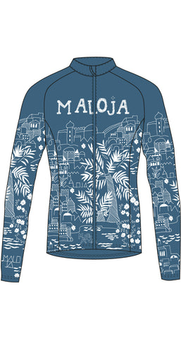 Maloja MarrakeshM Women's Long-sleeve Bike Top, Azur Blue Women's Cycling Jacket 3