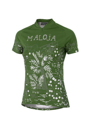 Maloja MarrakeshM Women's Bike Shirt, Cactus Green, Women's Cycling Top Jersey