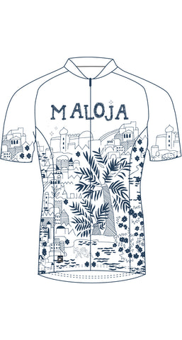 Maloja MarrakeshM Women's bike / cycling snow white jersey / top