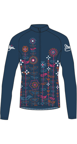 Maloja QudayaM Women's warm cycling bike jacket, Deep Ocean, blue