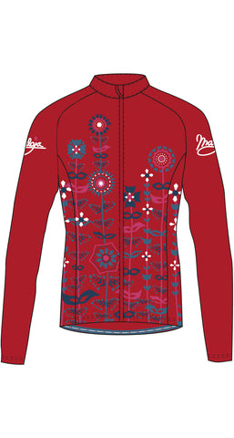 Maloja QudayaM women's warm cycling bike jacket, Granat, deep red