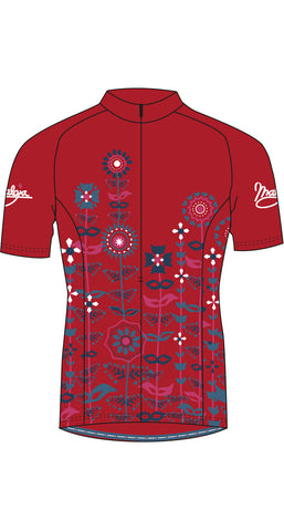 Maloja QudayaM Women's Bike Shirt, Granat, Women's Cycling Jersey
