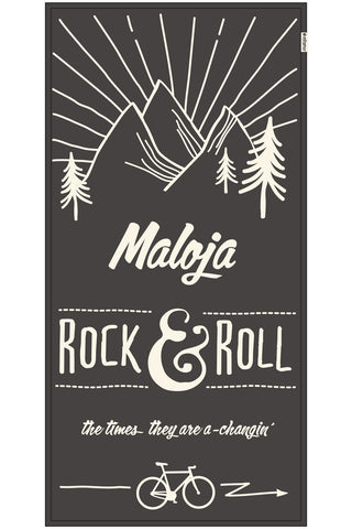 Maloja RonaldM Beach Towel, Charcoal Grey