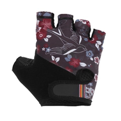 Maloja DorisM Women's Cycling Bike Gloves, Charcoal floral