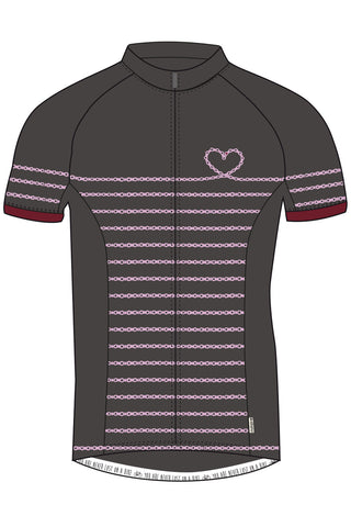 Maloja KathleenM Women's Bike Shirt, Charcoal, Cycling Jersey