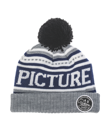 Picture Organic Clothing, Manchester Beanie, grey blue white