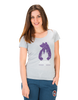 Picture Organic Clothing Ladies' Totem T-Shirt, grey with purple starry bear front