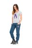Picture Organic Clothing Ladies' Totem T-Shirt, grey with purple starry bear full