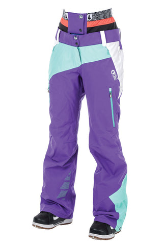 Picture_Organic_Clothing_Womens_Ski_Snowboard_pants_SEEN_ Purple-White-Water-Green-front