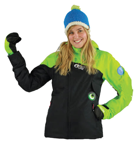 Picture Organic Clothing Iceberg Jacket Black Green, Women's Snowboarding/Ski Jacket