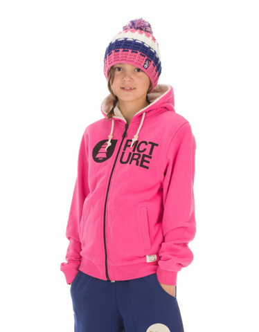 Picture Organic Clothing Basement Plush Kid's Hoodie in pink