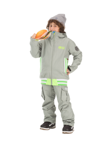 Picture Organic Clothing Winter Kid's Snowboard/Ski Pants Twenty, Grey
