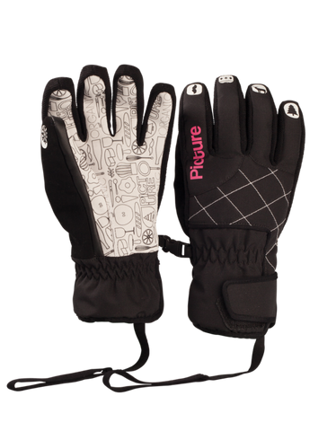 Picture Organic Clothing Winter, Women's Snowboard/Ski Gloves, Nail Gloves, White