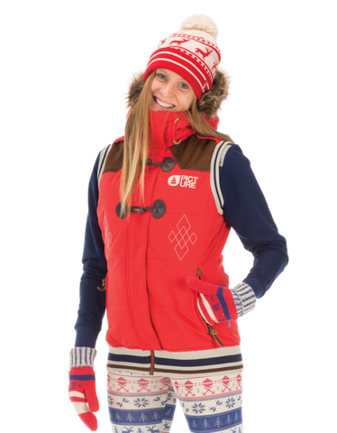 Picture Organic Clothing Winter 2015 , Women's Snowboard/Ski Jacket, Holly Vest, Red 1
