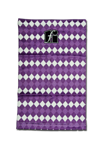 f-riders Neck Warmer / Snood purple argyle