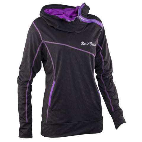 Race Face Slim Jane Women's Hoody, Black Purple
