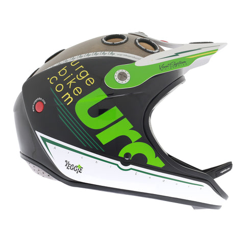 Urge Archi Enduro Veggie, Enduro Bike Helmet, Black / White / Green
