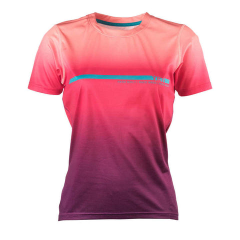 Womens_MTB_Cycling_Jersey_Monarch_Coral_Purple_Fade_Front