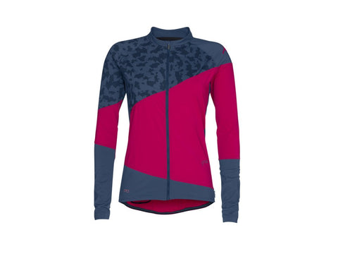 Womens_MTB_Cycling_Jersey_ion_Tee_Zip_long-sleeve_verta_blue_fuschia-red_front