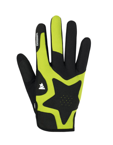 Zimtstern Draco Pro Women's MTB Freeride Glove, black yellow / lime 1