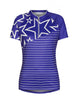 Zimtstern Maia Women's Shortsleeve MTB Tech Trail Jersey, purple white