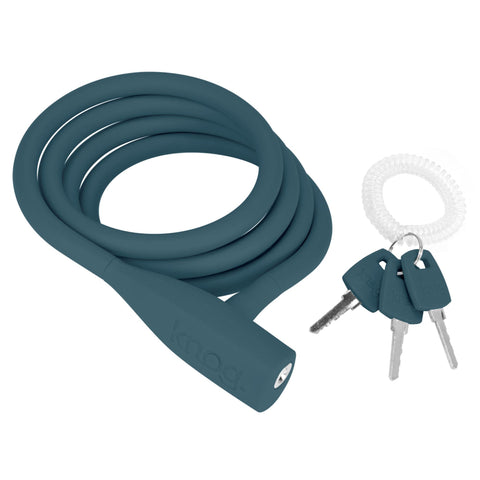 Knog Bike Lock Party Coil Cable Lock Indigo Blue/Teal