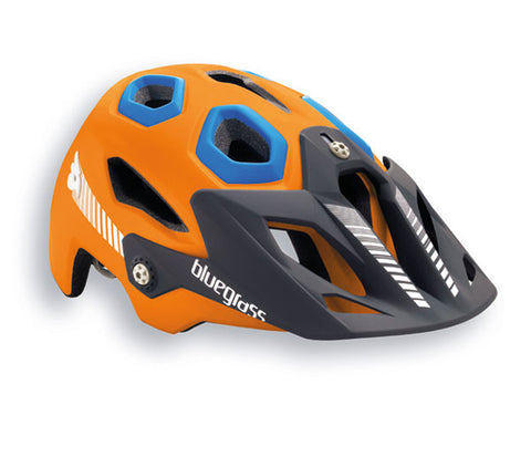 Bluegrass Golden Eye HES All Mountain Helmet Orange Blue
