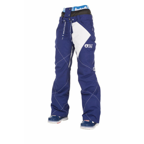 Picture Organic Clothing Fever Pants Blue White, Women's Snowboarding/Ski Pants Front