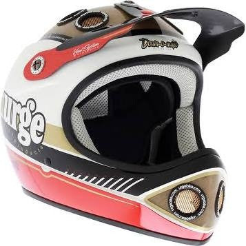 Urge Down-O-Matic Veggie, Full Face Bike Helmet, Black / White / Red