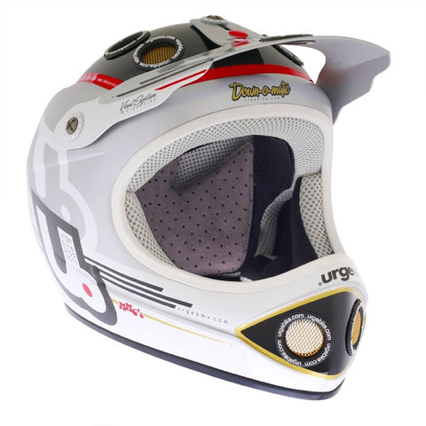 Urge Down-O-Matic, Full Face Bike Helmet, Silver