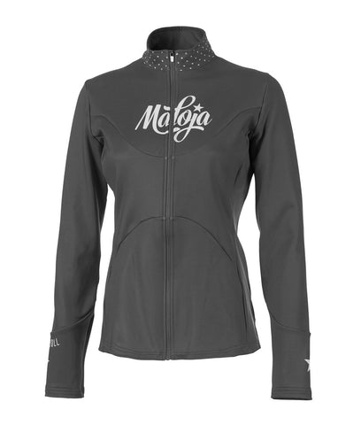 Maloja Womens Winter Long-sleeve cycling jacket corvallisM charcoal grey front