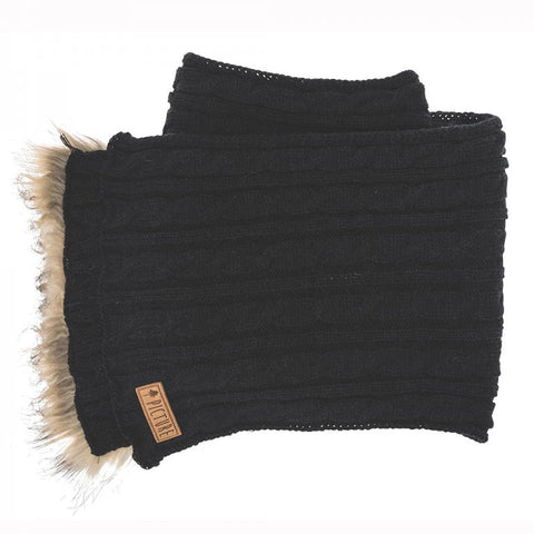 Picture Organic Clothing Ladies' Knitted Idea Scarf, Black