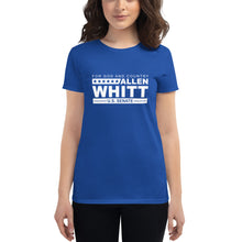 Load image into Gallery viewer, Allen Whitt for U.S. Senate Women's short sleeve t-shirt Royal Blue - Allen Whitt West Virginia Republican Campaign for U.S. Senate