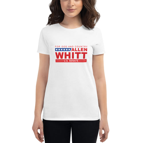 Women's short sleeve t-shirt White - Allen Whitt West Virginia Republican Campaign for U.S. Senate