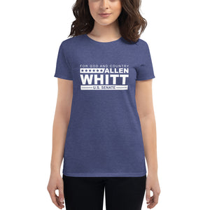 Allen Whitt for U.S. Senate Women's short sleeve t-shirt Heather Blue - Allen Whitt West Virginia Republican Campaign for U.S. Senate