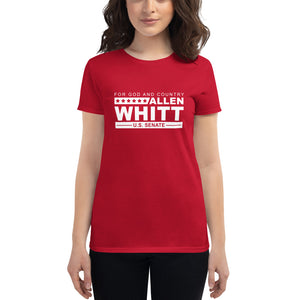 Allen Whitt for U.S. Senate Women's short sleeve t-shirt Red - Allen Whitt West Virginia Republican Campaign for U.S. Senate