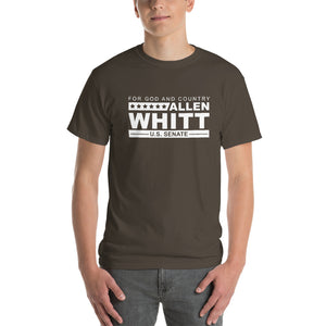 Allen Whitt for U.S. Senate Short Sleeve T-Shirt Olive - Allen Whitt West Virginia Republican Campaign for U.S. Senate