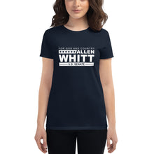 Load image into Gallery viewer, Allen Whitt for U.S. Senate Women's short sleeve t-shirt Navy - Allen Whitt West Virginia Republican Campaign for U.S. Senate